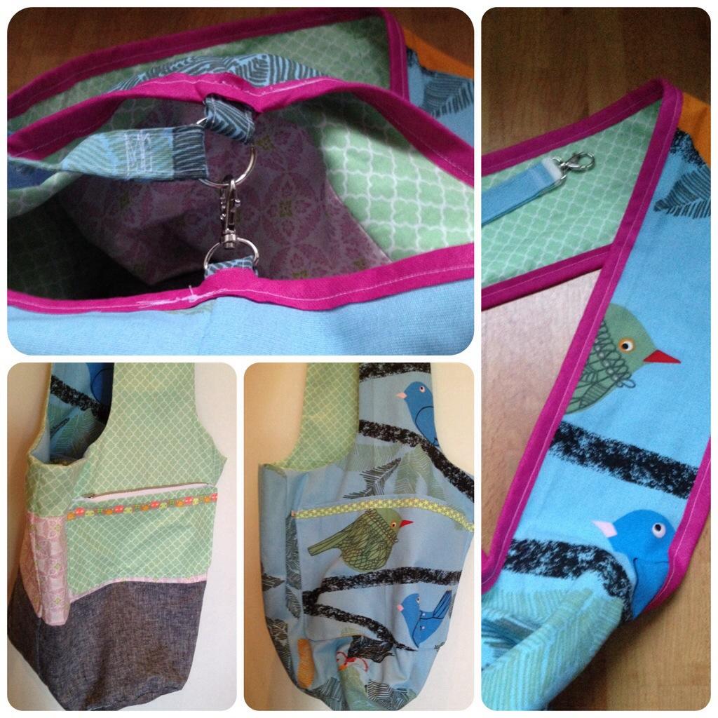 Eine Wende-Knotentasche