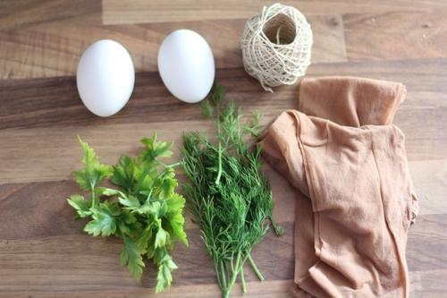 Alle Materialien - Ostereier färben mit Zwiebelschalen - diephotographin
