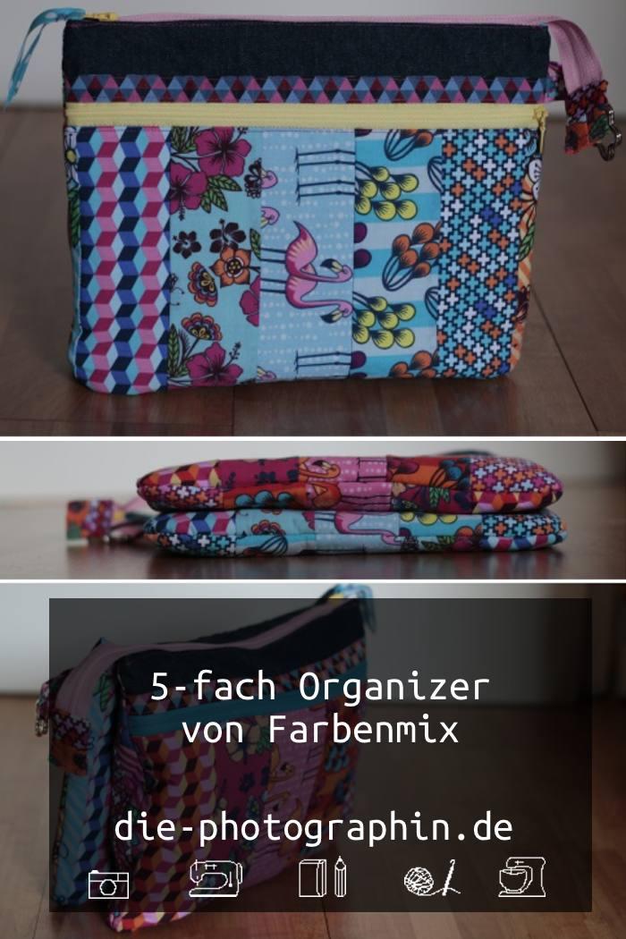5-fach Organizer von Farbenmis mit Stoffen von Hamburger Liebe - diephotographin