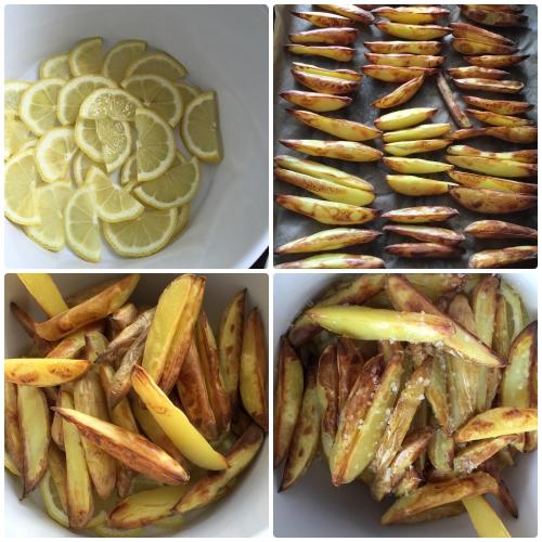 Alle Arbeitsschritte der Zubereitung - sommerlicher Zitronen-Kartoffelsalat
