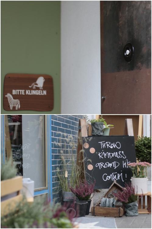 Details von schönen Läden in der Gaustraße: oben Im Herzen Afrikas, unten Fuchs & Bente - Best of Mainz Photo Walk - diephotographin