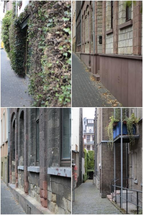 Häuserwände seitlich der Gaustraße - Best of Mainz Photo Walk - diephotographin