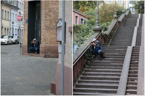 Der Fotograf Achim Katzberger in Aktion - Best of Mainz Photo Walk - diephotographin