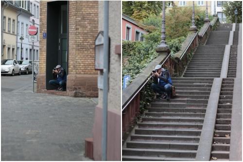 Der Fotograf Achim Katzberger in Aktion - Best of Mainz Photo Walk - diephotographin