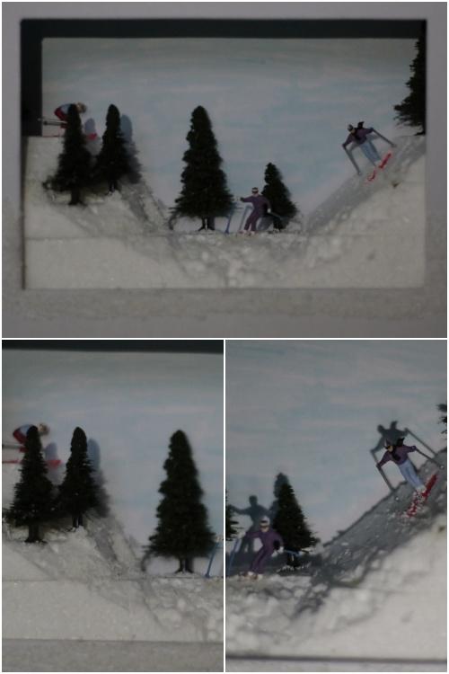 Winter Diorama - Gesamt- und Detailansichten - diephotographin