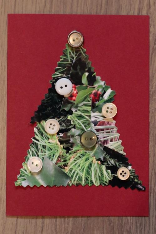 DIY Foto Weihnachtskarte - Karte mit vielen Knöpfen - diephotographin