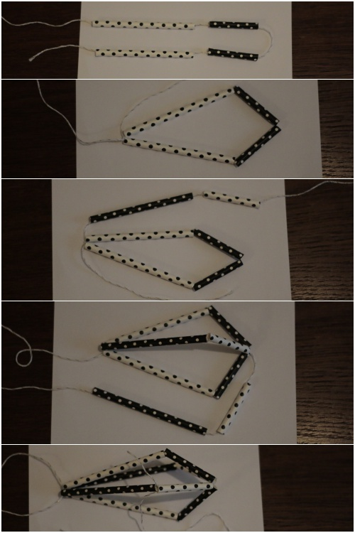 Strohhalmdiamanten Fotoanleitung Schritte 1-5 - diephotographin