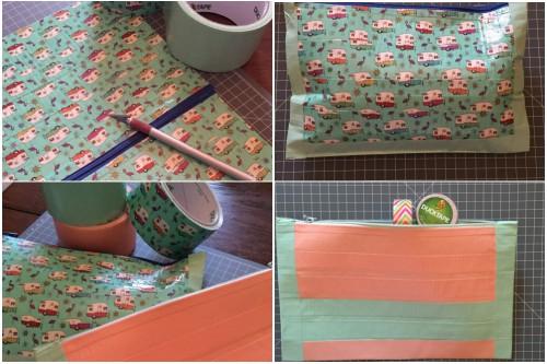 Kleine Reißverschlusstaschen aus Ducktape nach den Designwünschen der Kinder