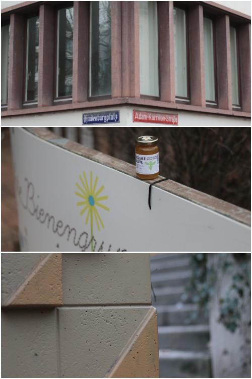 Straßenschilder und Honig von der grünen Brücke - Best of Mainz Photo Walk - diephotographin
