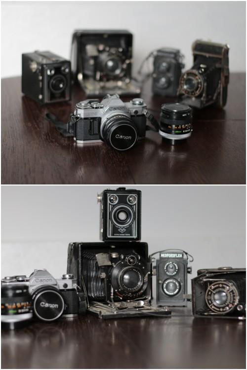 Einige meiner alten Kameras - eine Sammelleidenschaft von mir. (Mehr über diese Sammelleidenschaft erfahrt ihr beim Klick aufs Bild.)