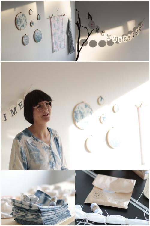 Christiane Hübner von renna deluxe erzählt uns etwas über die Tradition des japanischen Färben beim Shibori Workshop mit renna deluxe