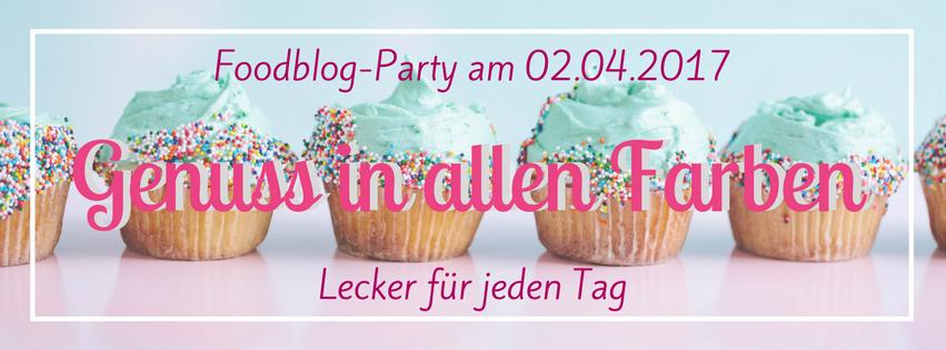 """Genuss in allen Farben Banner der Blogger Aktion """"Lecker für jeden Tag"""""""