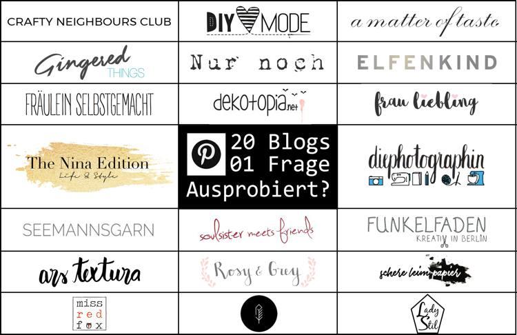 Alle Blogger, die euch heute die neue Funktion vorstellen auf einen Blick