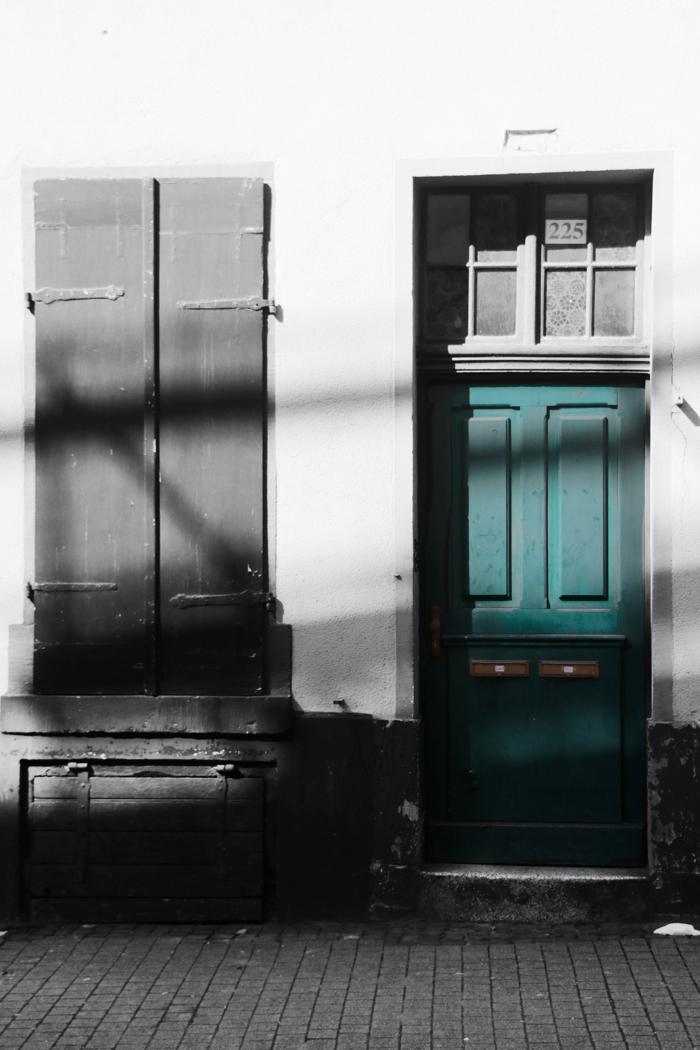 Grüne Tür, Heidelberg - Color-Key #fotoprojekt17 - diephotographin