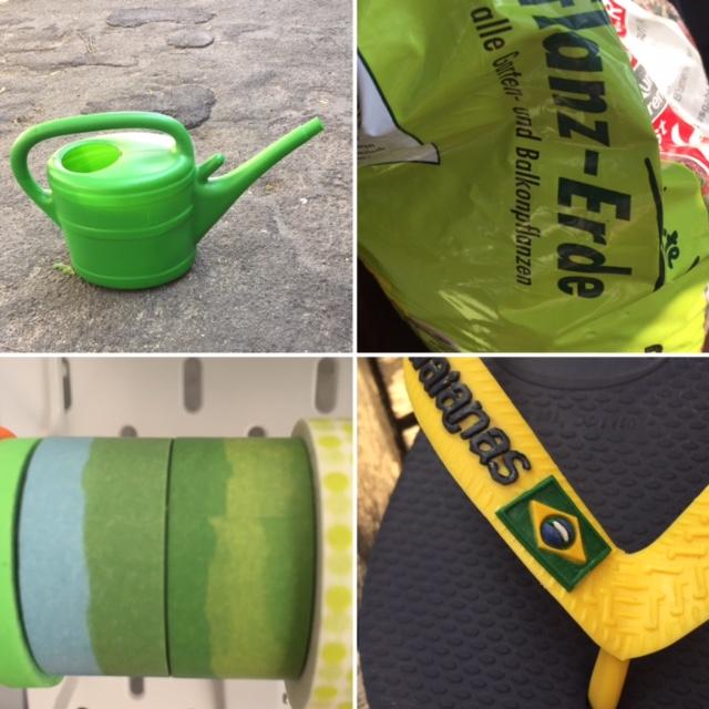 Increase Creativity Challenge Mai - Farbe grün - Alles was grün ist und zuhause gefunden wurde - diephotographin