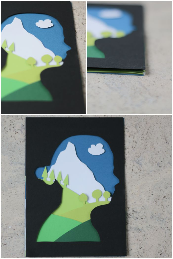 Details und das fertige Portrait mit Scherenschnitt und Papercut - #12giftswithlove - diephotographin