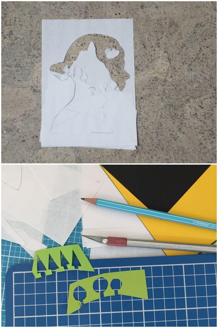 Bauplan und Vorbereitungen für ein Portrait mit Scherenschnitt und Papercut - #12giftswithlove - diephotographin