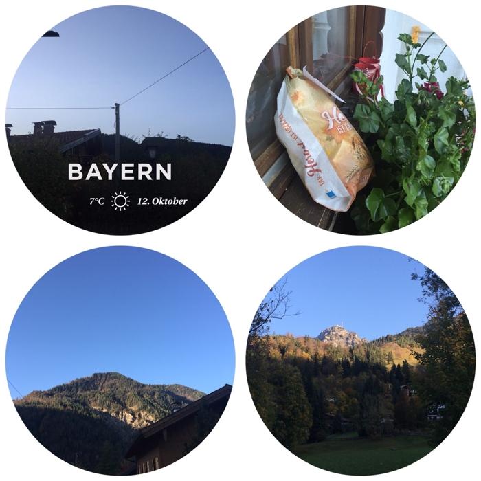 #12von12 - Aufwachen mit Sonnenschein, Brötchen-Service bis auf die Fensterbank, Sonnenaufgang über den Bergen, der Wendelstein in der Sonne - #1von12 #2von12 #3von12 #4von12 - diephotographin (mit Klick aufs Bild kommt ihr zu Instagram)