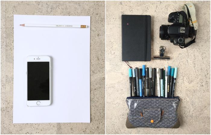 Achtsamkeit durch Stift, Papier und Kamera - Vorschläge für Material für die Aktion Achtsam durch die Vorweihnachtszeit - diephotographin