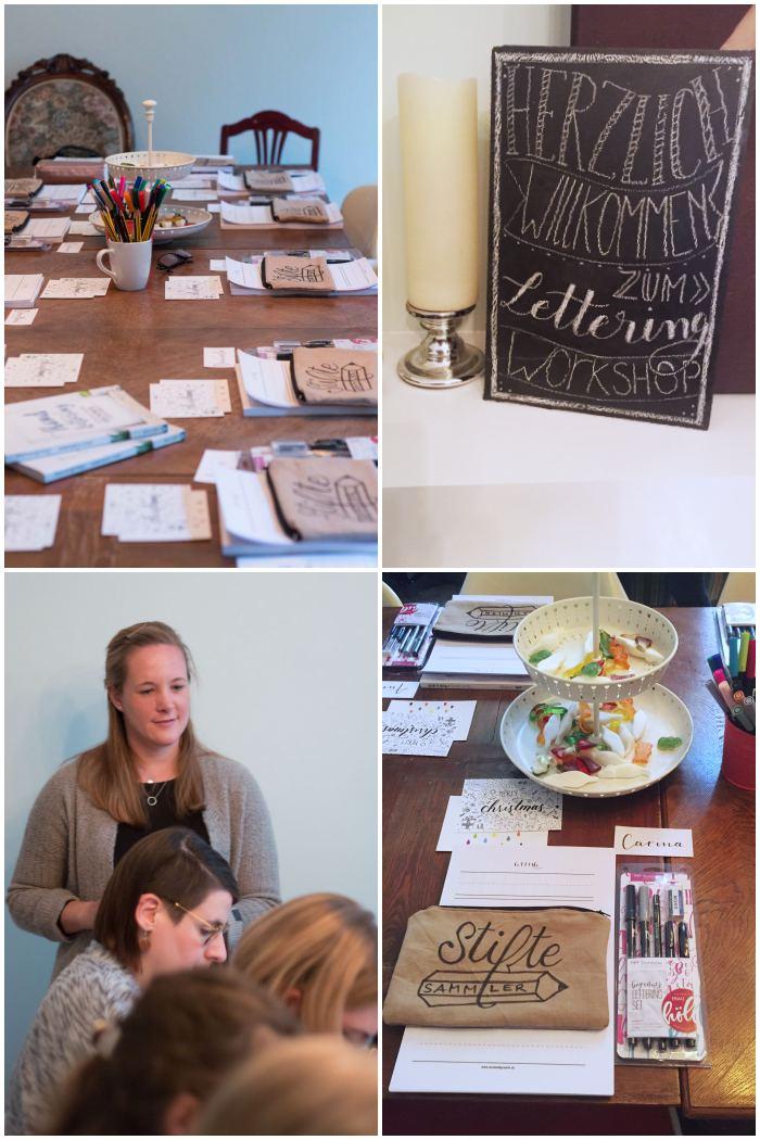 Der Workshop geht los - Handlettering Workshop mit Anna Schneider in Wiesbaden organisiert von Increase Creativity - diephotographin