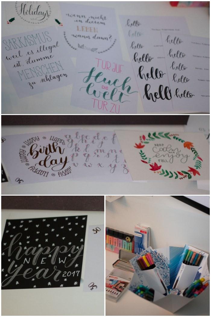 Ganz viel Inspiration von Anna - Handlettering Workshop mit Anna Schneider in Wiesbaden organisiert von Increase Creativity - diephotographin