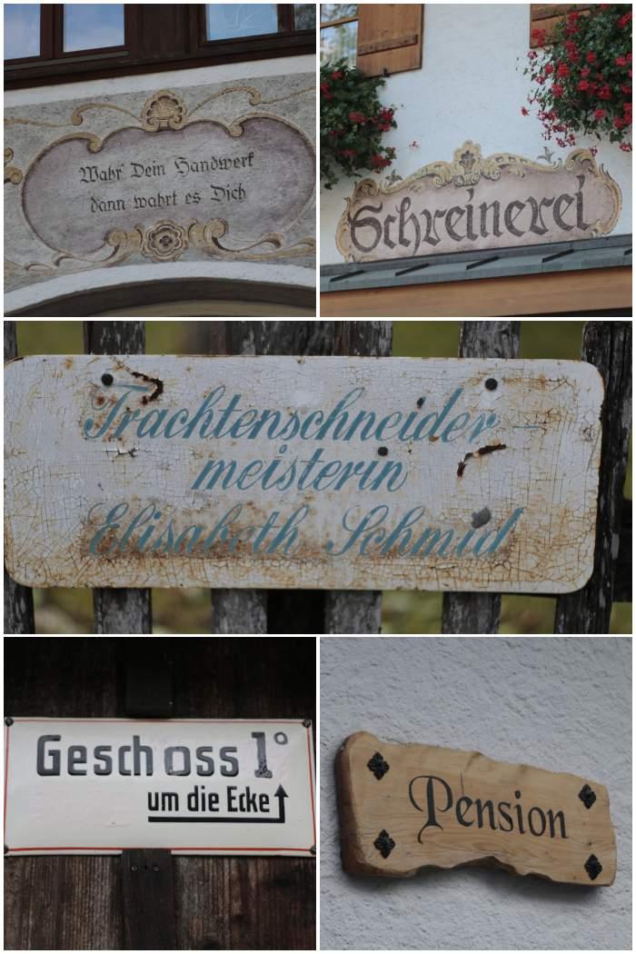 Typographie auf Schildern und Wänden - Herbst in Bayern - #fotoprojekt17 Herbstspaziergang - diephotographin