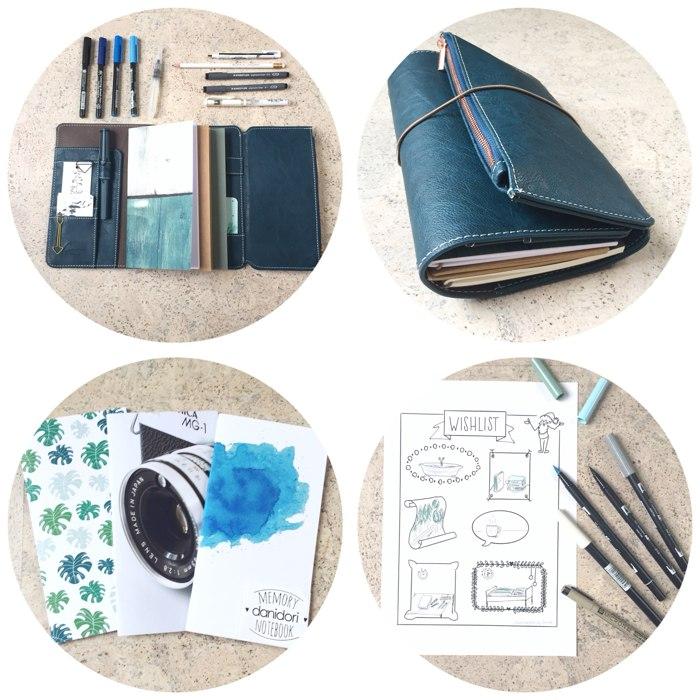 Mein neues Travelers Notebook und eine gemalte Wunschliste - 12 von 12 Dezember - diephotographin