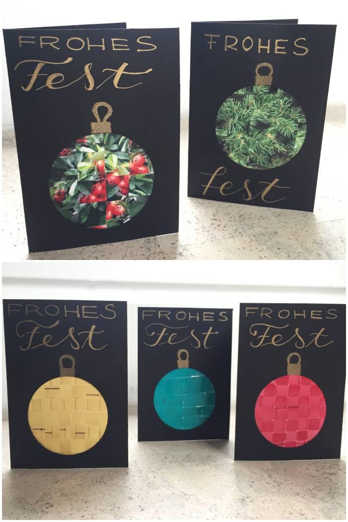 Weihnachtskarten mit verwebten Fotos - diephotographin