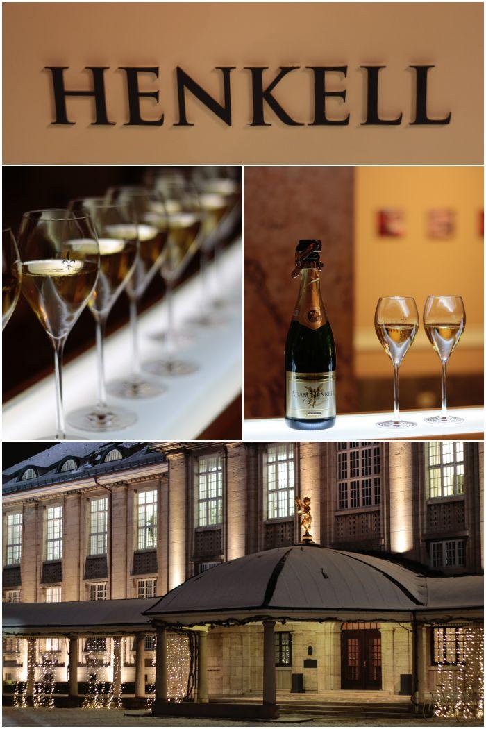 Start der Kellerführung mit einem Glas Adam Henkell Sekt - Henkell Sektkellerei - diephotographin