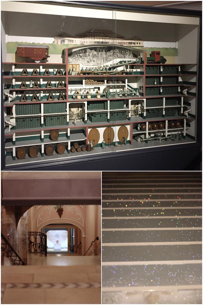 Der Beginn der Kellerführung und ein Modell der 7 Keller-Geschosse - Henkell Sektkellerei - diephotographin