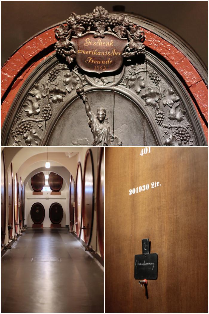 Alte Holzfässer in den Kellergewölben der Sektkellerei - Henkell Sektkellerei - diephotographin