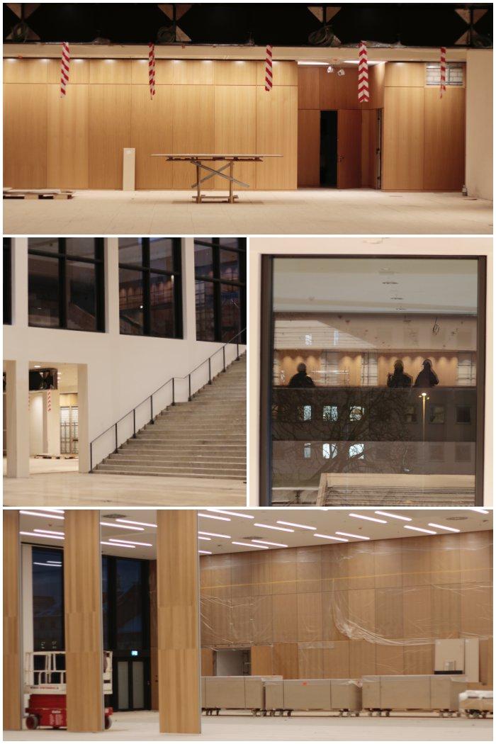 Zwischen Halle 1 und Halle 2, der Durchgang über den öffentlichen Treppen und ein Teil von Halle 2 - Führung durch das RheinMain CongressCenter - diephotographin
