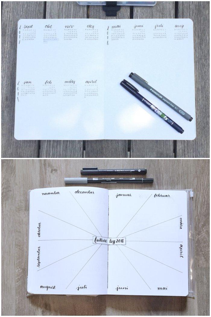 Mein Future Log für das Jahr 2017 und 2018 in meinem Bullet Journal - Bullet Journal 101 - diephotographin