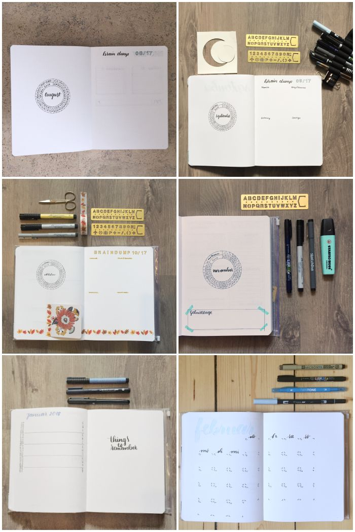 Meine verschiedenen Monatsübersichten im Bullet Journal - Bullet Journal 101 - diephotographin