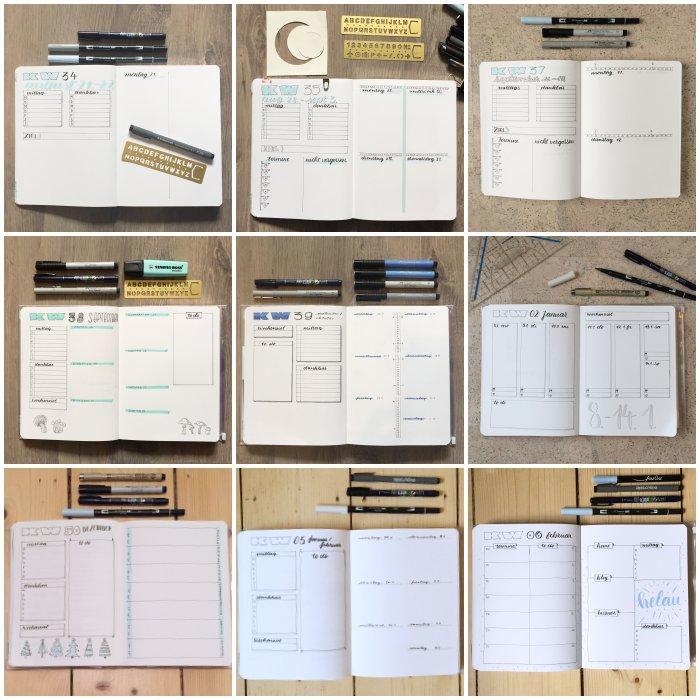 Verschiedene Wochenübersichten in meinem Bullet Journal - Bullet Journal 101 - diephotographin