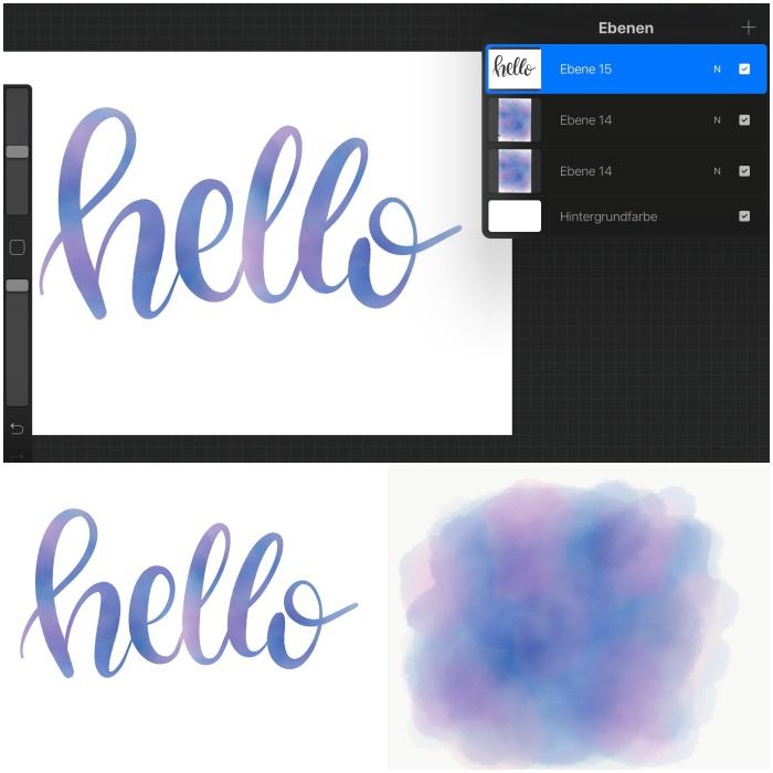 Ebenen bei Procreate nutzen - iPad Lettering - diephotographin