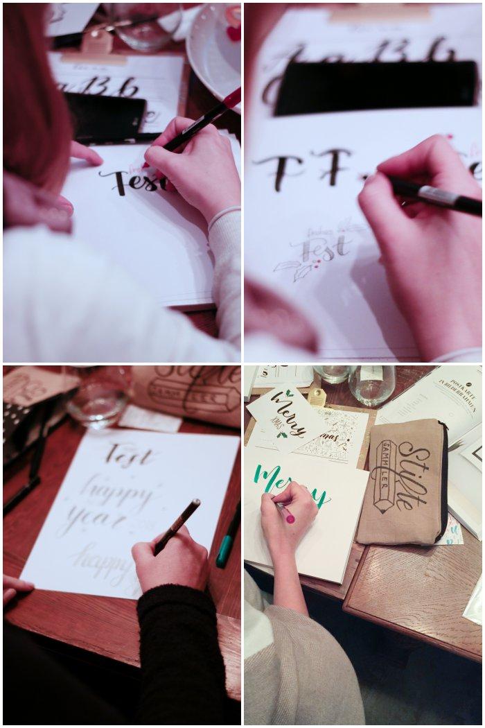 Am Ende werden erste eigene Schriftzüge versucht - Handlettering Workshop mit Anna Schneider in Wiesbaden organisiert von Increase Creativity - diephotographin