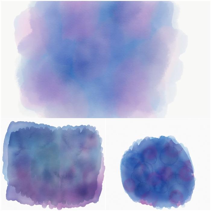 Watercolour Hintergründe - oben mit Adobe Sketch, unten mit Sketches entstanden - diephotographin