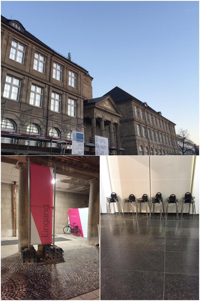 Das Wiesbadener Museum und die Hocker zum Zeichnen - Zeichenkurs Museum Wiesbaden - diephotographin