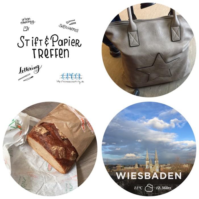 Mein 12. März in 12 Bildern - nächstes Stift + Papier Treffen ankündigen, die neue Tasche ausprobieren, Brot besorgen und der Sonne eine Gute Nacht wünschen - diephotographin