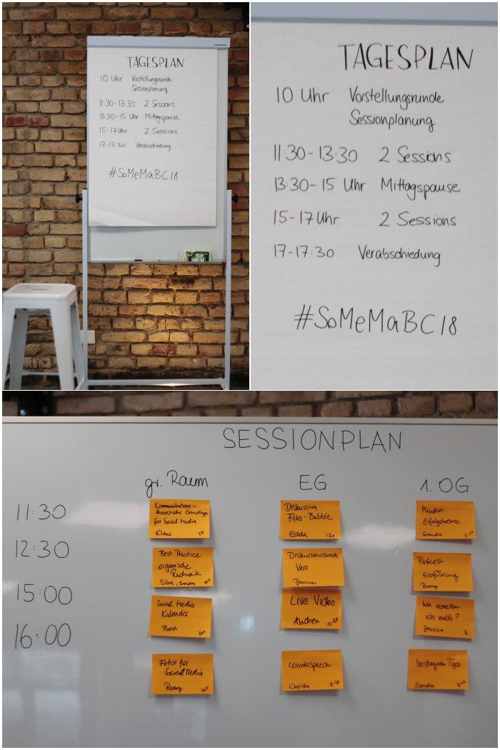 Der Tagesablauf und die Sessionplanung - Social Media Marketing Barcamp - Increase Creativity Event - diephotographin