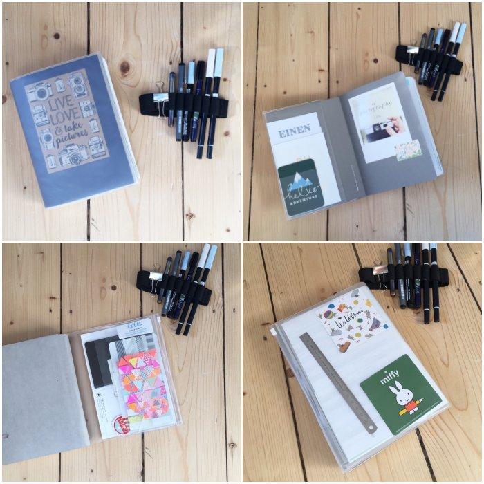 Mein Bullet Journal in der Ziplock-Notizbuch-Hülle mit dem Stifte-Gummiband - Stift + Papier Treffen - diephotographin