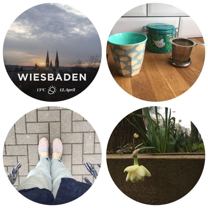Mein 12. April in 12 Bildern - morgendlicher Blick aus dem Fenster, einen Tee und ohne Socken rausgehen - diephotographin