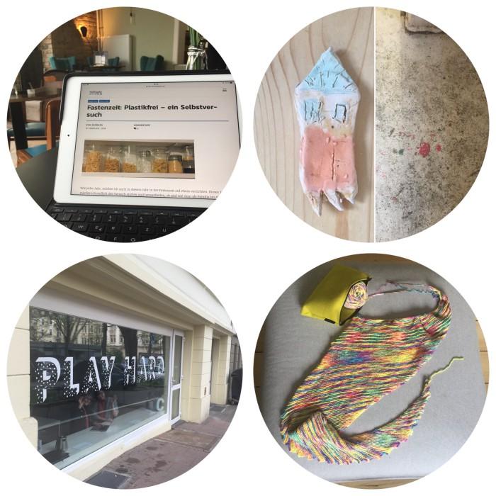 Mein 12. April in 12 Bildern - an einem Beitrag arbeiten, winkend durch die Nachbarschaft laufen und stricken - diephotographin