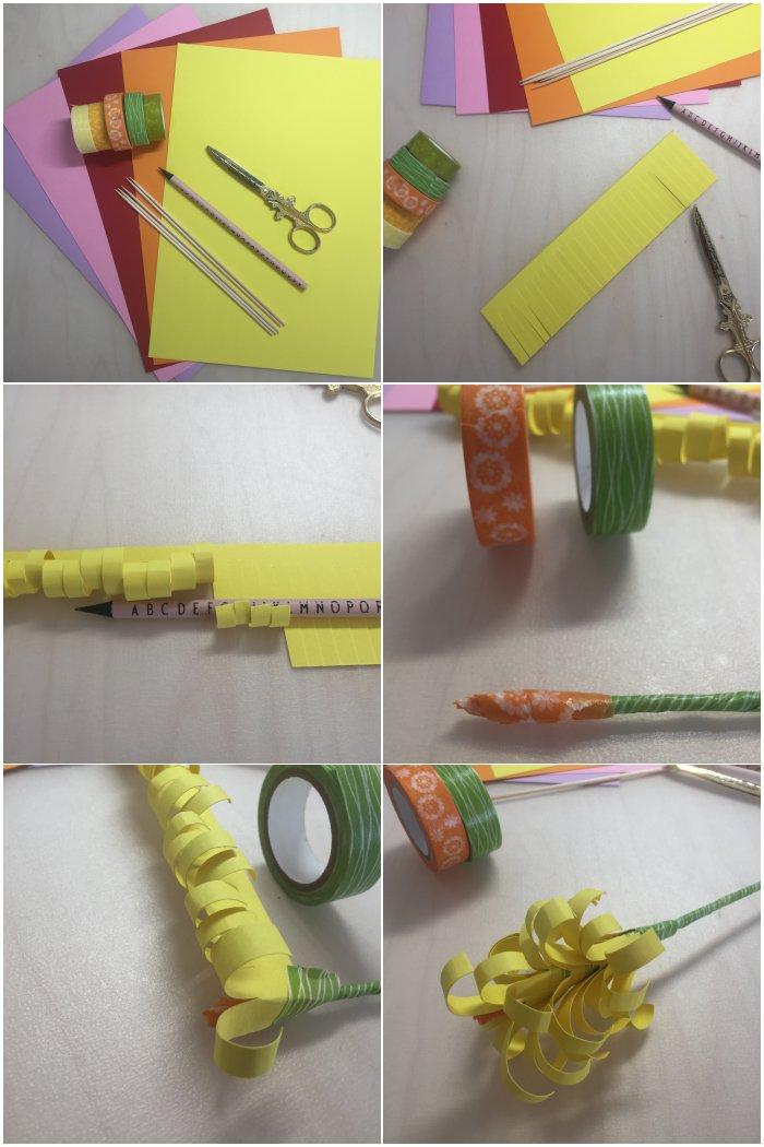 Step by Step Anleitung um eine Hyacinthe als Papierblume zu machen - diephotographin