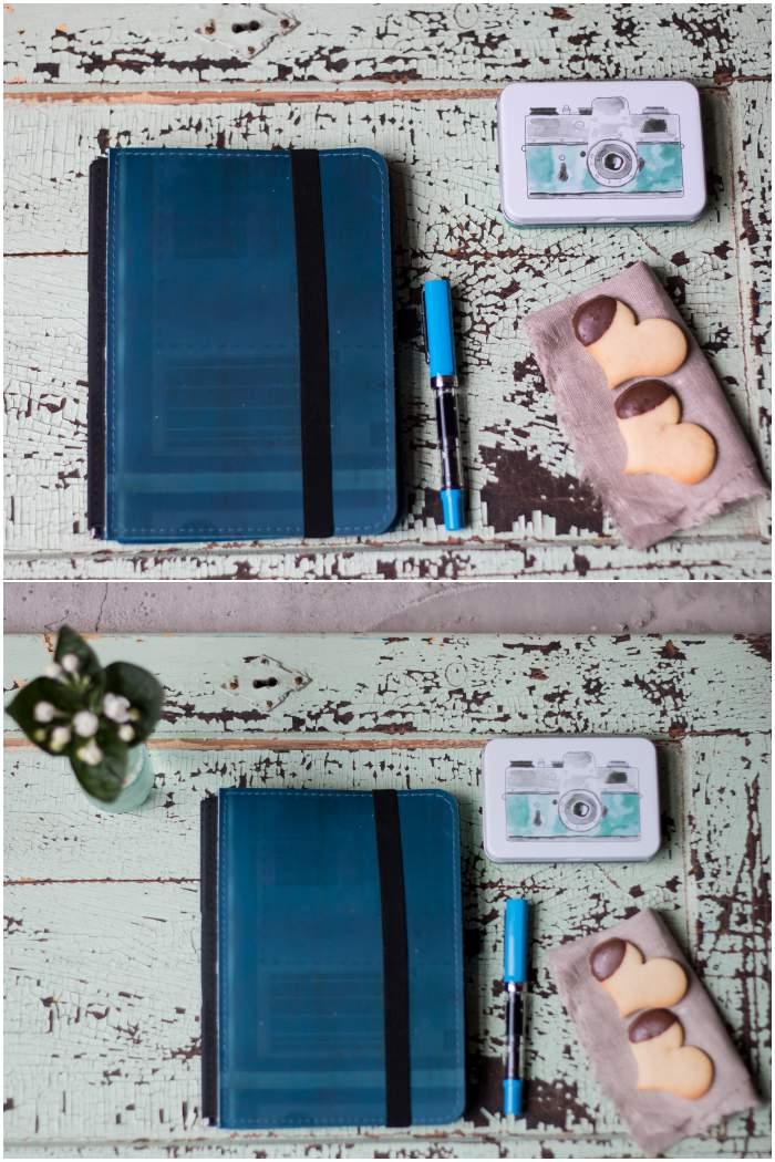 oben: sehr knapp - unten: etwas mehr Raum für Planer und Füller - Fotoworkshop mit Dreierlei Liebelei - diephotographin