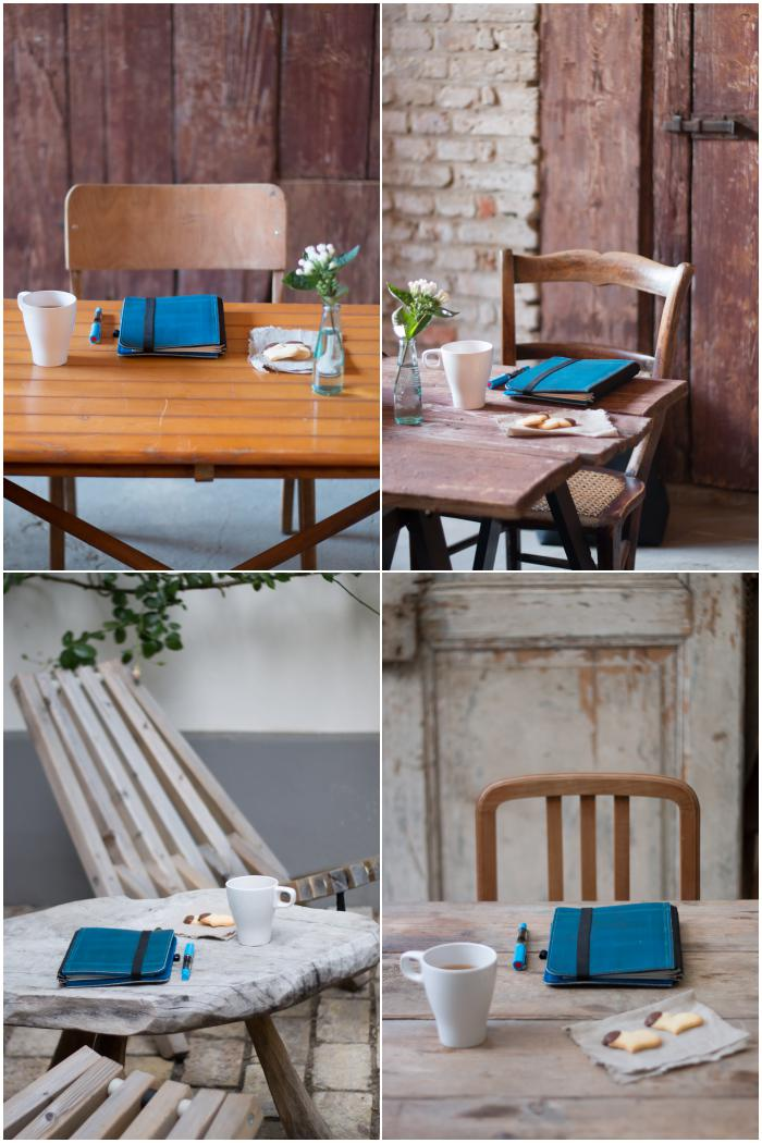 o.l. Holztöne passen nicht gut zusammen - besser: o.r. Tisch, Stuhl und Hintergrund haben einen ähnlichen Farbton. u.l. wieder ähnliche Farbtöne - u.r. gerade Linien von Tür, Tisch und Stuhl und ähnliche Holztöne - Fotoworkshop mit Dreierlei Liebelei - diephotographin