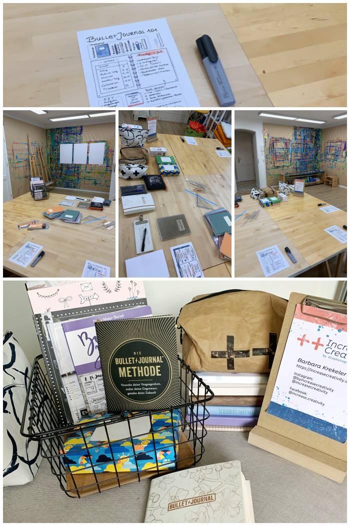 Bilder vom Bullet Journal Workshop in der Villa Farbenfroh - Bullet Journal 101 - Increase Creativity