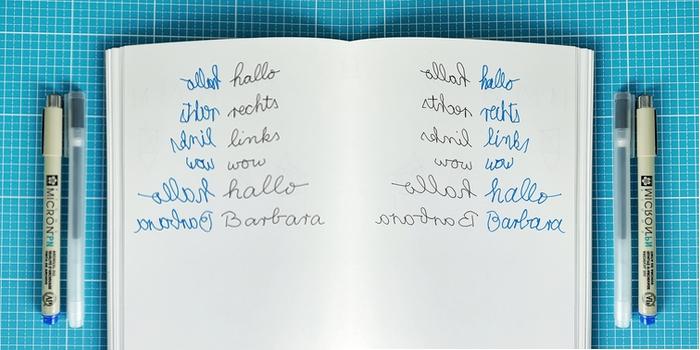 Ein paar Beispiele zum gleichzeitigen Schreiben mit rechts und links, normal und gespiegelt - 15. Stift + Papier Treffen - Increase Creativity