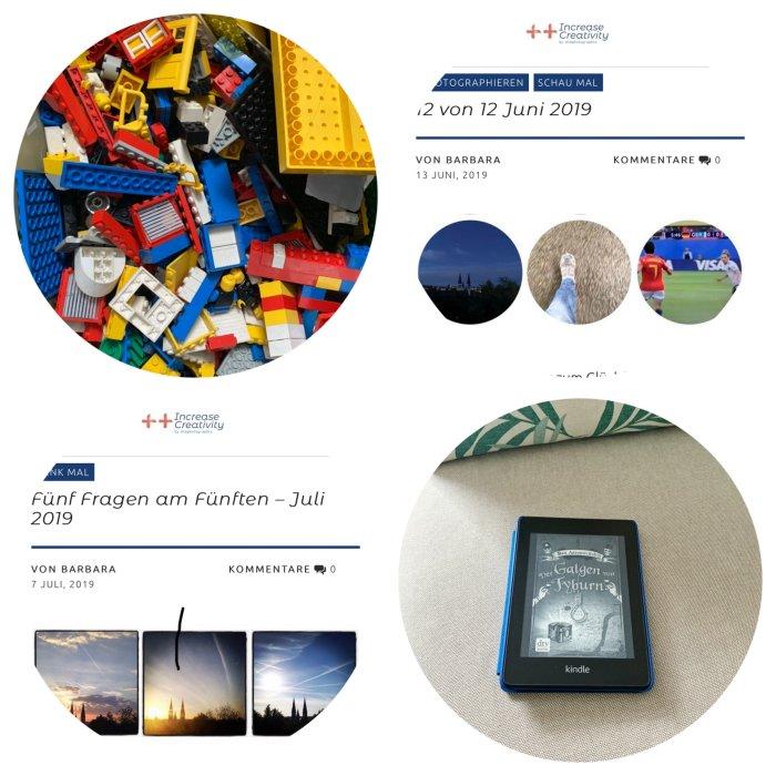 Legosteine der Kinder, zwei Blogbeiträge sind online  und weiter geht es im 6. Band um Peter Grand und die magische Welt in London - 12 von 12 Juli 2019 - Increase Creativity
